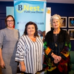 Speakers on the evening Pauline Gannon, BNest, Linda Ledger, St Munchins Community Centre, and Marie Richardson, Milford Care Centre. Pic: Cian Reinhardt