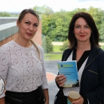 BNest Incubator Programme 2018/2019 was launched on September 5 at the Nexus Innovation Centre in the University of Limerick. Pictured are Lana Hannon, Nexus Innovation Centre and Fiona Quinn, Lamprog Theatre. Picture: Richard Lynch/ilovelimerick
