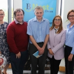 BNest Incubator Programme 2018/2019 is launched on September 5 at the Nexus Innovation Centre in the University of Limerick. Pictured are Kasia Zabinska, BNest, John Evoy, founder Irish Men's Sheds Association, Eamon Ryan, founder BNest, Tracey Lynch, CEO Tait House Community Enterprise and Pauline Gannon, BNest. Picture: ilovelimerick