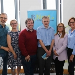 BNest Incubator Programme 2018/2019 is launched on September 5 at the Nexus Innovation Centre in the University of Limerick. Pictured are Richard Lynch, ilovelimerick, Kasia Zabinska, BNest, John Evoy, founder Irish Men's Sheds Association, Eamon Ryan, founder BNest, Tracey Lynch, CEO Tait House Community Enterprise and Pauline Gannon, BNest. Picture: ilovelimerick
