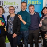 Pictured at the BNest Workshop at the Bank of Ireland Workbench Tuesday 20 February were Breda Fitzgerald, Co-Founder of LAC  (Limerick Autism Camps), Kasia Zabinska, BNest, Richard Lynch, founder of ilovelimerick.ie, Eamon Ryan, BNest and Evelyn Pepperrell, Chairperson of ADD. Picture: Cian Reinhardt/ilovelimerick