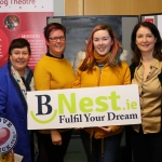 Pictured at the BNest Social Enterprise Incubator Showcase 2019 at Nexus Innovation Centre, UL was Bernie Burchill, BNest, Samantha Richardson, Jacqui Mannix Geoghegan and Fiona Quinn, Lampróg Theatre. Picture: Conor Owens/ilovelimerick.