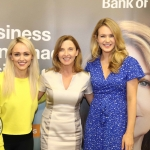 Pictured at the panel discussion for Wellness in the Workplace in Bank of Ireland Limerick are Leanne Moore of Go Gyms, Fitness and Nutrition, Maria Kelly, Head of BOI Limerick and Aoibhin Garrihy, Actress & Co Founder of BEO. Picture: Conor Owens/ilovelimerick.