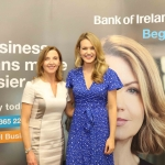 Pictured at the panel discussion for Wellness in the Workplace in Bank of Ireland Limerick are Maria Kelly, Head of BOI Limerick, and Aoibhin Garrihy, Actress & Co Founder of BEO. Picture: Conor Owens/ilovelimerick.