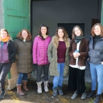 Pictured at the Cleeves Condensed Milk Factory are cast-members Amy Burke, Ella Daly, Lucia Smith, Georgina Miller, Martha Quinn and  Blake. Picture: Conor Owens/ilovelimerick.