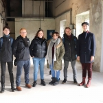 Pictured at the Cleeves Condensed Milk Factory are cast-members Shane Hickey O'Mara, Karl Quinn, Blake, Georgina Miller, Conor Mahon and Kit Thompson. Conor Owens/ilovelimerick.