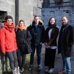 Pictured at the Cleeves Condensed Milk Factory are cast-members Lucia Smith, Amy Burke, Terry O'Donovan, Martha Quinn and Aiden Crowe  . Picture: Conor Owens/ilovelimerick.