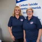 Kate O'carroll, louraine Thomlinson, representing Corbett Suicide Prevention Limerick. Picture: Cian Reinhardt/ilovelimerick
