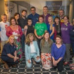 Niall Breslin and Richard Lynch (back centre) with the charities involved at the mental health talk at Castletroy Park Hotel. Picture: Cian Reinhardt/ilovelimerick