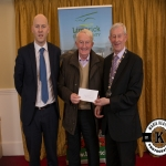 Pat Fogarty, accepts the award for 2nd place in the Annacotty region modern category on behalf of Ballinure/Mongfume Burial Ground, from Gordon Daly, Director of Services Limerick City and County Council and Deputy Mayor Noel Gleeson. The Annual Burial Ground Awards took place at the Woodlands House Hotel, Adare