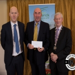 David O'Brien accepts the award for 1st place in the Annacotty region modern category on behalf of Castlemungret Cemetery, from Gordon Daly, Director of Services Limerick City and County Council and Deputy Mayor Noel Gleeson. The Annual Burial Ground Awards took place at the Woodlands House Hotel, Adare