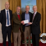 Joe Ryan and Ger Lewis accept the award for 3rd place in the Rathkeale/Adare area Modern category on behalf of Shanagolden Burial Ground from Gordon Daly, Director of Services Limerick City and County Council and Deputy Mayor Noel Gleeson. The Annual Burial Ground Awards took place at the Woodlands House Hotel, Adare