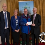 Councillor Bridget Teefy and Fr James Walton accept the award for 3rd place in the Annacotty region ancient category on behalf of Carrigparson Burial Ground from Gordon Daly, Director of Services Limerick City and County Council and Deputy Mayor Noel Gleeson. The Annual Burial Ground Awards took place at the Woodlands House Hotel, Adare