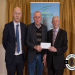 Eamon Cagney accepts the award for 2nd place in the Newcastle West area ancient category on behalf of Castletown Conyers Burial Ground from Gordon Daly, Director of Services Limerick City and County Council and Deputy Mayor Noel Gleeson. The Annual Burial Ground Awards took place at the Woodlands House Hotel, Adare