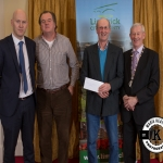 John and Jim Chawke accept the award for 3rd place in the Rathkeale/Adare area ancient category on behalf of Shanbotha Burial Ground from Gordon Daly, Director of Services Limerick City and County Council and Deputy Mayor Noel Gleeson. The Annual Burial Ground Awards took place at the Woodlands House Hotel, Adare