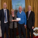 Kathleen O'Shea and Kevin Storan accept the award for 2nd place in the Rathkeale/Adare area ancient category on behalf of Ballinakill Burial Ground, Kilfinny from Gordon Daly, Director of Services Limerick City and County Council and Deputy Mayor Noel Gleeson. The Annual Burial Ground Awards took place at the Woodlands House Hotel, Adare