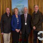 Councillors Francis Foley, Bridget Teefy and Mike Donegan were pictured with Deputy Mayor Noel Gleeson at the Annual Burial Ground Awards in the Woodlands House Hotel, Adare
