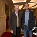 Pat Fogarty, Cappamore, and Tadgh Enright, Bulgaden, were pictured at the Annual Burial Ground Awards in the Woodlands House Hotel, Adare