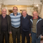 Michael McAuliffe, Tullybracky Graveyard, James Ryan, Oola, Billy Harty, St. Joseph's, Knocklong, and Paddy Ryan, Oola, were pictured at the Burial Ground Awards at Fitzgerald's Woodlands House Hotel and Spa, Adare