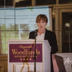 Carmel Lynch, Limerick City and County Council, gives an address at the Burial Ground Awards at Fitzgerald's Woodlands House Hotel and Spa, Adare