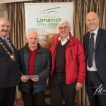 Gerard Noonan and John Keane, Fedamore Old Burial Ground, receives the 2nd Place Award in the Adare/Rathkeale Ancient category from Cathaoirleach Adare/Rathkeale Municipal District Kevin Sheahan and Gordon Daly, Director of Community Development Limerick City and County Council, at the Burial Ground Awards at Fitzgerald's Woodlands House Hotel and Spa, Adare