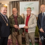 Michael O'Halloran and Michael McMahon, Mellon Burial Ground, receives the 1st Place Award in the Adare/Rathkeale Ancient category from Cathaoirleach Adare/Rathkeale Municipal District Kevin Sheahan and Gordon Daly, Director of Community Development Limerick City and County Council, at the Burial Ground Awards at Fitzgerald's Woodlands House Hotel and Spa, Adare