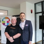 Pictured at the #CALL IT OUT event at the University of Limerick are Professor Eoin Devereux, Department of Sociology at UL, and Richard lynch, founder of I Love Limerick. Picture: Orla McLaughlin/ilovelimerick.