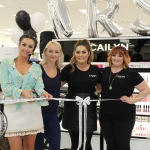 Cailyn Ireland counter launch at Shaws, Crescent Shopping Centre, Limerick make up artist Michelle Regazzoli Stone, fitness expert Leanne Moore and style and Cailyn Makeup Artists Aimee and Lisa. Picture: Zoe Conway/ilovelimerick 2018.
