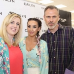 Cailyn Ireland counter launch at Shaws, Crescent Shopping Centre, Limerick Claireann Mc Keown, make up artist Michelle Regazzoli Stone and Richard Lynch, ilovelimerick. Picture: Zoe Conway/ilovelimerick 2018.