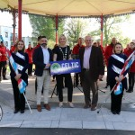 Pictured at the launch of the Celtic Bands Festival in People's Park is Keith Kelly, festival director, Councillor Olivia O'Sullivan and David Buckley, Celtic Horizons Tours with members of the Boherbuoy Band. Picture: Orla McLaughlin/ilovelimerick.
