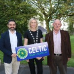 Pictured at the launch of the Celtic Bands Festival in People's Park is Keith Kelly, festival director, Councillor Olivia O'Sullivan and David Buckley, Celtic Horizons Tours. Picture: Orla McLaughlin/ilovelimerick.