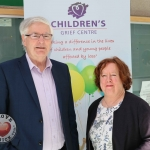 Pictured at the promo for the Children's Grief Centre Children and Loss Conference 2019 in Limerick Institute of Technology are Philip Mortell, Chairperson for Childrens Grief Centre, and Beryl Carswell, Support Worker. Picture: Conor Owens/ilovelimerick.