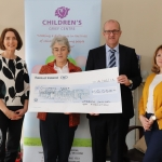 Pictured at the donation of ten thousand euros to the Children's Grief Centre in Limerick by Limerick Citizen's Bar Association are Theresa O'Driscoll, Sr Helen Culhane, Robert Kennedy, president of Limerick Solicitors Bar Association and Anne English. Picture: Orla McLoughlin/ilovelimerick.