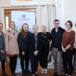 Cian Aheme, Jigsaw, Katie Anchell, Jigsaw, Christene Donovan, Jigsaw, Eileen Hanley, Jigsaw, Sr Helen Culhane, founder, Tanya O'Sullivan, Jigsaw, Gerry Linnane, Jigsaw, Aisling O'Neill, Jigsaw, and Theresa Kavanagh, CGC, seen attending the launch of the Childrens Grief Centre's new website and leaflet. Picture: Conor Owens/ilovelimerick.
