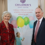 Phyllis Moynihan and Micheal Byrne, website designer, pictured at the launch of the Childrens Grief Centre's new website and leaflet. Picture: Conor Owens/ilovelimerick.