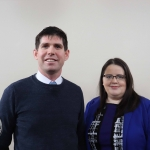 Derek Walsh and Niamh White pictured at the launch of the Childrens Grief Centre's new website and leaflet. Picture: Conor Owens/ilovelimerick.