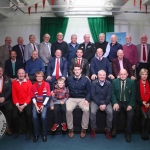 Limerick City and County Council, Civic Reception to mark the Munster Team's victory over the New Zealand All Blacks in Thomond Park in 1978.  Pictured at the civic reception in City Hall Merchants Quay were, members off the Munster 1978 Team that beat the All Blacks with, Pat Daly, Deputy Chief Executive Limerick City and County Council, Mayor of Limerick City and County Cllr. James Collins and Michael Keane, Vice President Munster Branch IRFU. Picture: Zoe Conway/ilovelimerick.