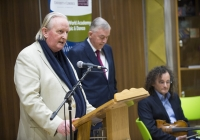 "27/01/2016The University of Limerick names Clare fiddler Martin Hayes as its inaugural Irish World Academy Artist.Speaking at the announcement is Professor Mícheál Ó Súilleabháin, Founding Director & Chair of Music, Irish World Academy of Music and Dance, alongside Professor Don Barry, University of Limerick president, and Irish World Academy Artist Martin Hayes.The University of Limerick has announced a new three-year arts patronage award through the Irish World Academy of Music and Dance. The award, entitled Irish World Academy Artist, University of Limerick will facilitate the creative process of selected artists across a three-year period through a budget of €60,000.The first artist to receive the award is Clare fiddler Martin Hayes who commences his three-year association with the Irish World Academy, University of Limerick in January 2016. Martin Hayes has been internationally acclaimed for bringing his local East Clare traditional fiddle style to a global audience through his many performances and recording. More recently he has formed the ensemble The Gloaming which has further pushed the boundaries of Irish traditional music in the field of ensemble playing that started with Sean Ó Riada's (1930 – 1971) pioneering ensemble Ceóltóirí Chualainn in the 1960s. Hayes also acknowledges the significant influence of Dublin fiddler Tommie Potts (1912 – 1987) on his creative output.The Irish World Academy Artist at the University of Limerick will undertake a series of creative projects across the three-year span. Students of the Academy will have access to open workshops in the state-of-the-art Irish World Academy building on the banks of the river Shannon on the University Campus.(Speaking at the launch of the award) Professor Don Barry, President of the University said: ""It is fitting that an artist of the stature of Martin Hayes should be the inaugural Irish World Academy Artist, given Martin's unique contribution to our cultural life and the Irish World Academy's vision for Ireland's past, present and future.""On his appointment, Martin Hayes said: ""I'm deeply honoured to be named the first Irish World Academy Artist at the University of Limerick and grateful for the opportunity this three year initiative affords me to explore the possibility of further musical collaboration in such a creative environment."" Professor Mícheál Ó Súílleabháin, Chair of Music and Founder Director of the Irish World Academy said: ""The Irish World Academy Artist initiative is further evidence of the commitment of the University of Limerick to the Performing Arts at the highest level. That the first award goes to a local artist with a global reputation builds on the Irish World Academy record of linking the local with the global towards the mutual benefit of both.""Picture credit: Diarmuid Greene/Fusionshooters"
