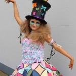 Erin Berming wearing the Junk Kouture design 'Radiant Wonder' at Coláiste Nano Nagle. Picture/ilovelimerick.