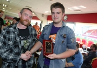 40k 1stb Saoirse O'Connor & Garry Jackson Owner of the gathering Models and Hobby Shop and organiser of Conclave
