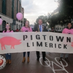 Limerick Culture Night 2018 takes place on Friday, September 21. There are hundreds of events across Limerick on the night. Pigtown Food Series is back to Limerick for the culture night! Cllr James Collins, Mayor of the City and County of Limerick was leading the pigtown parade. Picture: Baoyan Zhang/ilovelimerick