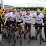 The inaugural 'Great Dalata Cycle 2018' in aid of CMRF Crumlin saw a number of Dalata Hotel Group employees cycle over 1,100km throughout the island of Ireland, is part of Dalata's wider charity initiative Dalata Digs Deep. Pictured for the cyclists arrival at the Maldron Hotel Limerick are Valerie O'Neill, General Manager Maldron Hotel and Joe Quinn, Clayton Hotels Operations Manager (second from left) and James Collins, Mayor of the City and County of Limerick with the cyclists. Picture: Richard Lynch/ilovelimerick.