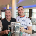 The inaugural 'Great Dalata Cycle 2018' in aid of CMRF Crumlin saw a number of Dalata Hotel Group employees cycle over 1,100km throughout the island of Ireland, is part of Dalata's wider charity initiative Dalata Digs Deep. The cyclists arrived at the Maldron Hotel where the McCarthy Cup was was waiting to greet them. Picture: Richard Lynch/ilovelimerick.
