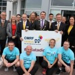 The inaugural 'Great Dalata Cycle 2018' in aid of CMRF Crumlin saw a number of Dalata Hotel Group employees cycle over 1,100km throughout the island of Ireland, is part of Dalata's wider charity initiative Dalata Digs Deep. Pictured for the cyclists arrival at the Maldron Hotel Limerick are James Collins, Mayor of the City and County of Limerick with the staff of the Maldron Hotel Limerick. Picture: Richard Lynch/ilovelimerick.