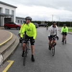 The inaugural 'Great Dalata Cycle 2018' in aid of CMRF Crumlin saw a number of Dalata Hotel Group employees cycle over 1,100km throughout the island of Ireland, is part of Dalata's wider charity initiative Dalata Digs Deep. Pictured is the cyclists arrival at the Maldron Hotel Limerick. Picture: Richard Lynch/ilovelimerick.