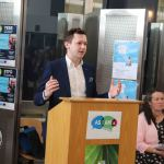 Speaking at the launch of the DEASP Limerick Autism Initiative in the Intreo Centre on Dominic Street was Adam Harris, CEO of AsIAm. Picture: Conor Owens/ilovelimerick.