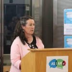 Speaking at the launch of the DEASP Limerick Autism Initiative in the Intreo Centre on Dominic Street was Kay Broderick, DEASP supervisor. Picture: Conor Owens/ilovelimerick.