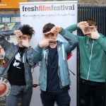 REPRO FREE 6/3/19. Pictured are Ireland's Young Filmmaker of the Year Awards 2019 finalists Milosh Hughes, 18 from Malahide, Sean Tracey, 14 from Wicklow, and Cal O'Driscoll, 16 from Dublin 7, at the Dublin regional heats of the Fresh Film Festival at the Irish Film Institute. Picture: Conor Owens/ilovelimerick.