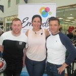 Shane Power, DJ, Emma Cross Ryan, Embody Fitness and Pail Knaoo, firefighting chef at the Embody Fitness Family Fun Event in Castletory Town Centre in aid of the Neonatal Unit in the University  Maternity Hospital Limerick on August 28, 2018. Pictures: Baoyan Zhang/ilovelimerick