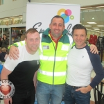 Shane Power, DJ, Robert Simring, Community First Responder and Paul Knapp, firefighting chef at the Embody Fitness Family Fun Event in Castletory Town Centre in aid of the Neonatal Unit in the University  Maternity Hospital Limerick on August 28, 2018. Pictures: Baoyan Zhang/ilovelimerick